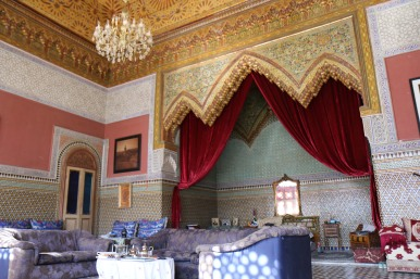 The grand salon and bedroom.